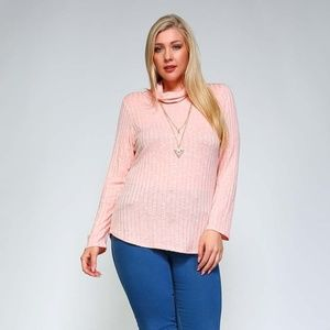 Sweaters - Pink Plus Size Sweater